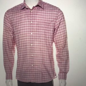 John Varvatos check pattern button up shirt